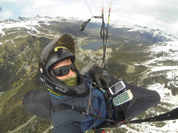 Flying into St Moritz