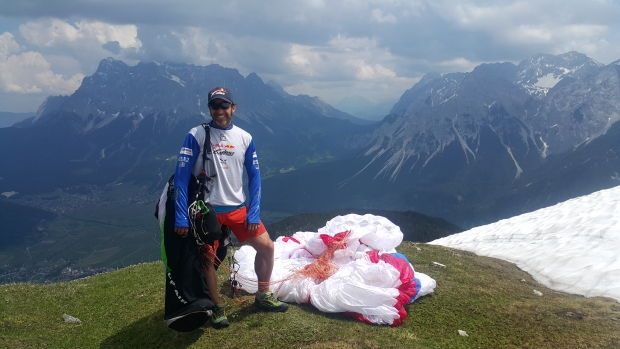 On the set with Red Bull near the Zugspitze (TP4).  All kitted out!