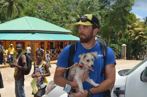 Nick's guard dog in Haiti
