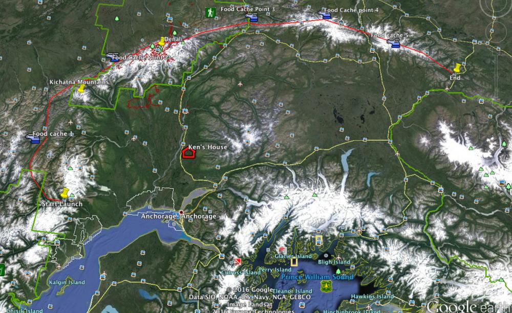 Alaska Range Traverse Line