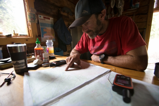Making plans in the Rohn Cabin, day 17